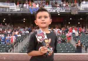 Adorable 5-Year-Old Sings National Anthem Before Texas Baseball Game [Video]