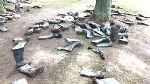 Thousands of wellies left abandoned in fields following Download Festival in England [Video]