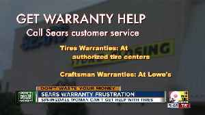 Sears customers: Here's how to get warranty help [Video]