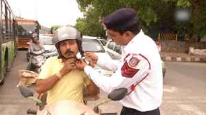 Delhi traffic police constable raps to spread road safety awareness [Video]