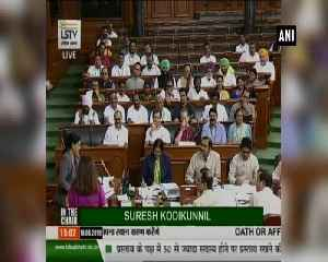 Maneka Gandhi takes oath on 2nd day as Lok Sabha MP [Video]