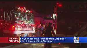 Man Rescued From House Fire In Abington [Video]
