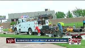Tulsa businesses without water after water main break [Video]