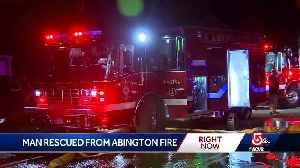 Man rescued from Abington fire [Video]