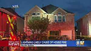 Lightning May Be To Blame For Early Morning Dallas House Fire [Video]