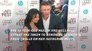 Hilaria Baldwin deletes negative social media comments [Video]