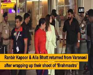 Ranbir Kapoor, Alia Bhatt are back in Mumbai after shooting for Brahmastra in Varanasi [Video]