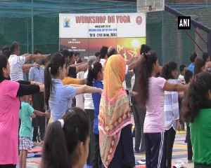 7-day yoga camp is underway in AMU ahead of International Yoga Day [Video]