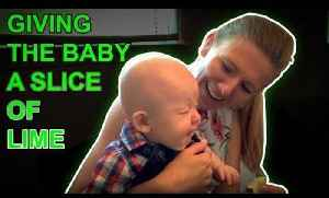 Baby Makes Faces After Tasting Lime for the First Time [Video]