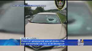 Flying Wood Block Shatters Windshield On I-93 In Wilmington [Video]