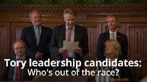 News video: Rory Stewart eliminated from Tory leadership contest