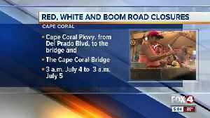 Road closures for red white and boom [Video]