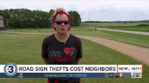 'Please stop': Rash of road sign thefts costs neighbors [Video]