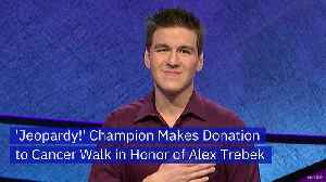 'Jeopardy!' Champion Makes Donation to Cancer Walk in Honor of Alex Trebek [Video]