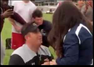 Man Gets Help Proposing to Girlfriend From Penn State Football Coach [Video]