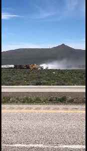 Derailed Train Cars Spill Aluminum Oxide East of Elko, Nevada [Video]
