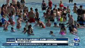 Water World taking part in largest swim lesson today [Video]