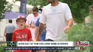 Families enjoy Kids Day at the College World Series [Video]