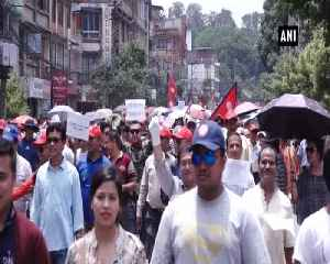 Thousands of Nepalis flood streets demanding scraping of Guthi Bill [Video]