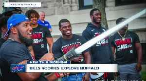 Buffalo Bills rookies find out what it's like to be a firefighter, explore city [Video]