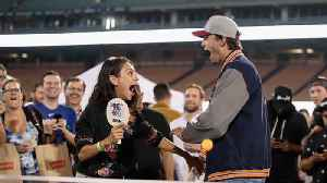 News video: Ashton Kutcher and Mila Kunis poke fun at split rumours in hilarious video