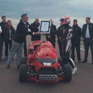 World's fastest lawnmower goes from 0-100mph in under 7 seconds [Video]