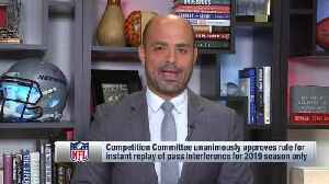 NFL Network's Mike Garafolo: Pass interference replay rule would only be used for 'egregious' violations [Video]