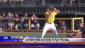 USM's Matt Wallner, J.C. Keys sign to play pro ball [Video]