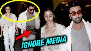 Ranbir Kapoor Alia Bhatt AVOID Facing Cameras At Mumbai Airport | Brahmastra Varanasi Shoot [Video]