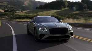 Bentley Continental GT V8 in Alpine Green Driving Video [Video]