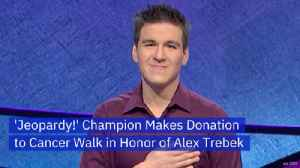 James Holzhauer Donates In Honor of Alex Trebek [Video]