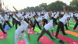Bend it like Modi: Indian PM marks Yoga Day