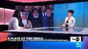 The need for female participation in US-Afghan peace talks [Video]