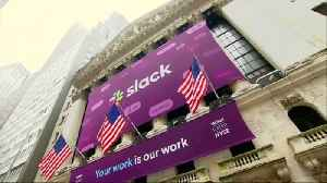 Slack stock surges at market debut [Video]