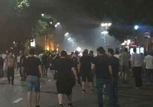 Tear Gas Used Against Anti-Russia Protesters in Tbilisi [Video]