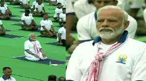 Watch: PM Modi leads mega yoga event in Jharkhand's Ranchi [Video]