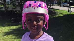 Artist Transforms Helmet into Tiara for Five-Year-Old Who Was Shot in the Head [Video]