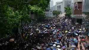News video: Thousands of protesters back on the streets of Hong Kong