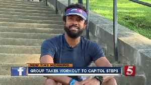 At the 'Capitol Steps Workout,' fitness takes flights [Video]