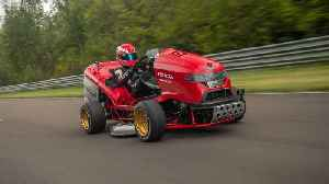 A record breaking lawn mower [Video]