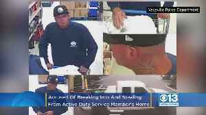 Search On For Suspect Who Burglarized Active Duty Service Member's Vacaville Home [Video]