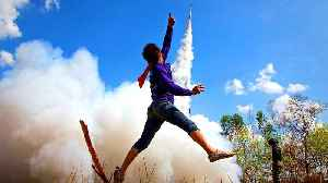 Rocket to the gods: Buddhist blast off for good luck [Video]