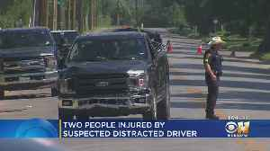 News video: Two Men Injured By Suspected Distracted Driver