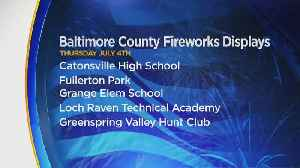 Here's Where You Can See Fireworks In Baltimore County On Fourth Of July Weekend [Video]