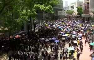 Protesters demand HK government drop charges [Video]