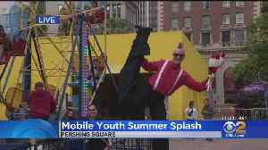 Pershing Square Rings In Summer With Free Water Slides, Ice Cream [Video]