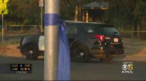 Blue Ribbons Tied To Poles And Trees In Sacramento Neighborhood In Tribute To Fallen Officer [Video]