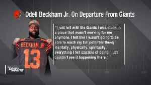 Cleveland Browns wide receiver Odell Beckham Jr.: I felt I couldn't reach my 'full potential' with the New York Giants [Video]