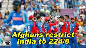 World Cup 2019 | Afghan spinners restrict Indian batsmen to 224/8 [Video]