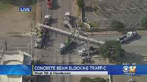 Efforts Underway To Remove Concrete Beam From Busy Fort Worth Intersection [Video]